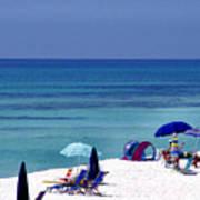 Blue Mountain Beach Poster