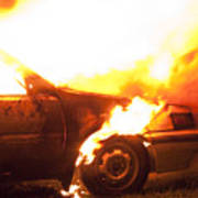 Burning Car Poster