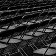 Chair Pattern Empty Seats Poster