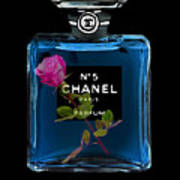 Chanel With Rose Poster