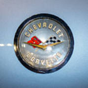 Chevrolet Corvette Badge Poster