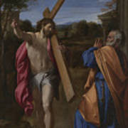 Christ Appearing To Saint Peter On The Appian Way Poster