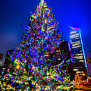 Christmas Tree Near Panther Stadium In Charlotte North Carolina Poster