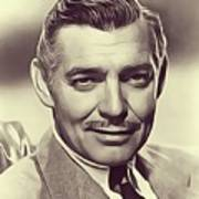 Clark Gable, Vintage Actor Poster