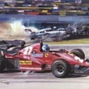 Cma 081 1983 San Marino Gp Imola Patrick Tambay In Ferrari Roy Rob Poster