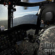 Co-pilot Flying A Ch-47 Chinook Poster