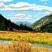 Colorado Mountain Lake In Fall Poster