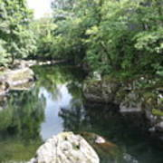 Conwy River Near Betws Y Coed.  Poster