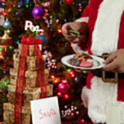 Cookies And Milk For Santa Poster