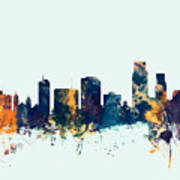 Corpus Christie Texas Skyline Poster