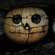 Creepy Halloween Pumpkin Poster
