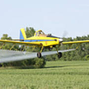 Crop Dusting Plane Poster