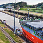 Crossing Panama Canal Poster