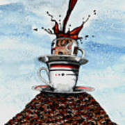 2 Cups Coffee Poster