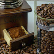 Daily Grind Coffee Beans Poster