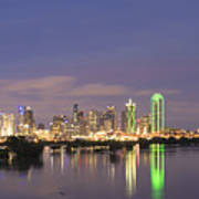 Dallas Skyline Twilight Poster
