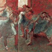 Dancers At Rehearsal Poster by Edgar Degas