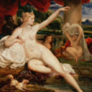 Diana At The Bath Poster
