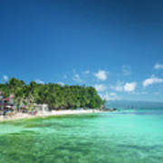 Diniwid Beach In Tropical Paradise Boracay Philippines Poster