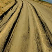Dirt Road Winding Poster