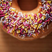 Donut And Sprinkles Poster