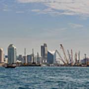 Dubai Creek And Abra Boats Poster