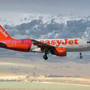 Easyjet Tartan Livery Airbus A319-111 Poster