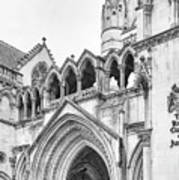 Entrance To Royal Courts Of Justice London Poster