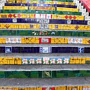 Escadaria Selaron In Rio De Janeiro Poster