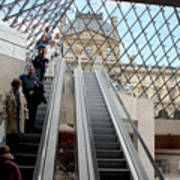 Escalator Entrance To Louvre Poster