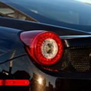 Ferrari Tail Light Poster