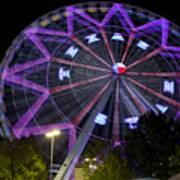 Ferris Wheel At The Texas State Fair In Dallas Tx Poster
