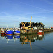 Fishing Boats At Whitstable Harbour 03 Poster