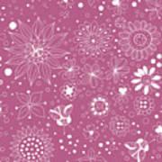Floral Doodles Poster