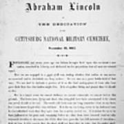 Gettysburg Address, 1863 Poster