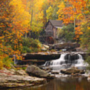 Glade Creek Grist Mill - Fall Poster