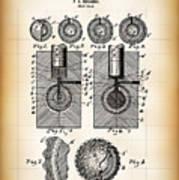 Golf Ball Patent  1902 Poster