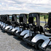 Golfing Golf Carts Poster