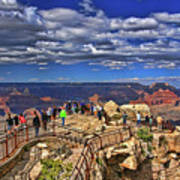 Grand Canyon #  4 - Mather Point Overlook Poster