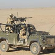 Gurkhas Patrol Afghanistan In A Land Poster