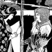 How Morgan Le Fay Gave A Shield To Sir Tristran Poster