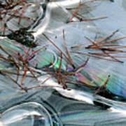 2. Ice Prismatics 1, Slaley Sand Quarry Poster