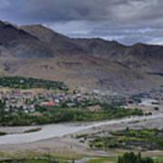 Indus River And Kargil City Leh Ladakh Jammu Kashmir India Poster