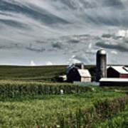 Iowa Farmstead Poster