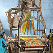 Jacquard Loom For Weaving Textiles Poster