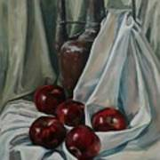 Jug With Apples Poster