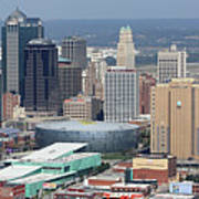 Kansas City Skyline Panorama Poster