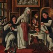 Kitchen In A Convent Poster