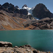 Laguna Chiar Khota In Condoriri Mountains Poster