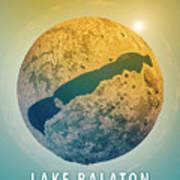 Lake Balaton 3d Little Planet 360-degree Sphere Panorama Poster